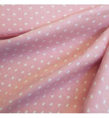Lino rosa cuori h150 35,40
