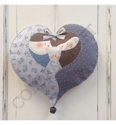 KIT15-12 CUORE PRESEPE APPLIQUE'