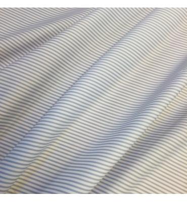 PIQUE riga bianco azzurro